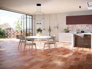 Tuscania S.p.A. Classic style dining room Tiles