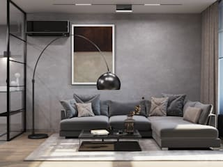 GM-interior Minimalist living room Grey