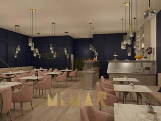 """Salão de Chá """"Ouro Azul"""" Espaços de restauração modernos por MIMAR Interiores Moderno"""