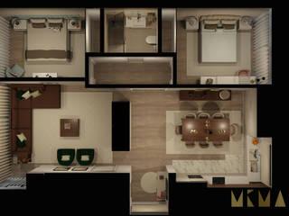 Andar Moradia - Póvoa de Varzim por MIMAR Interiores Moderno