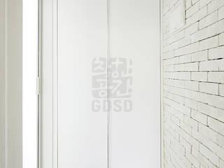 주식회사 착한공간연구소 Hành lang, sảnh & cầu thang phong cách tối giản White