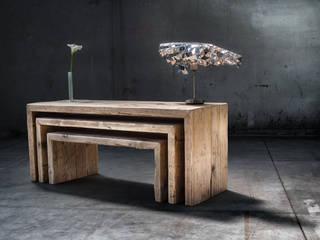 Panche in legno vecchio di recupero | Con design a matrioska Inventoom SoggiornoTavolini Legno
