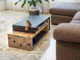 Coffee table moderno in legno e ferro | Mod. Cesare di Inventoom Moderno