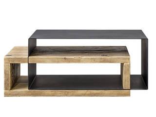 Coffee table moderno in legno e ferro | Mod. Cesare Inventoom SoggiornoTavolini Metallo