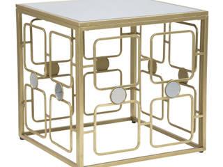 Tavolini da soggiorno BricoBravo SoggiornoTavolini Ferro / Acciaio Ambra/Oro