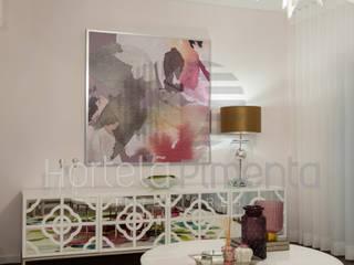 Projecto Sala Salas de estar ecléticas por Hortelã Pimenta Interiores Eclético