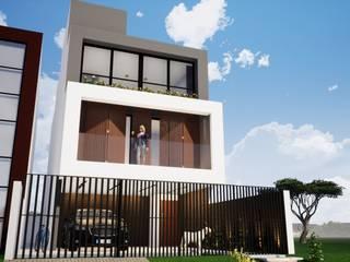 Sobrado Estreito Danilo Rodrigues Arquitetura Casas familiares