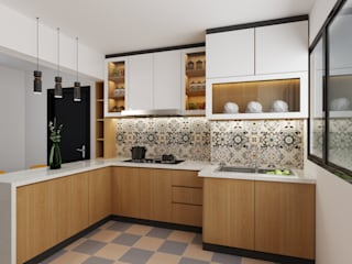 Swish Design Works Built-in kitchens Plywood Wood effect