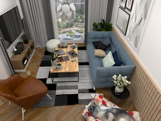 Swish Design Works Scandinavian style living room Wood effect