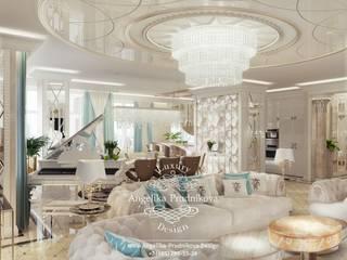 클래식스타일 거실 by Дизайн-студия элитных интерьеров Анжелики Прудниковой 클래식