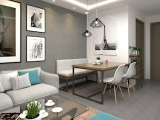 Swish Design Works Modern dining room Grey