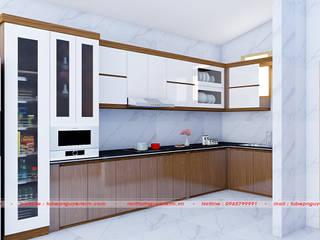 Combo mẫu tủ bếp acrylic vân gỗ tạo sự khác biệt hoàn hảo bởi Nội thất Nguyễn Kim