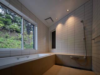 八角形の住宅 モダンスタイルの お風呂 の 久木原工務店 モダン