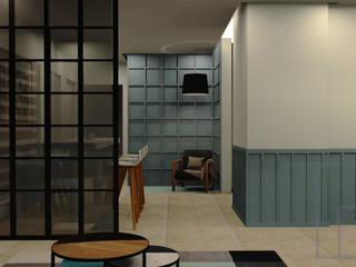 Omaxe residency Minimalist corridor, hallway & stairs by tanushree Agarwal Designs Minimalist