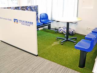 Hammer & Margrander Interior GmbH Complesso d'uffici moderni Ferro / Acciaio Blu