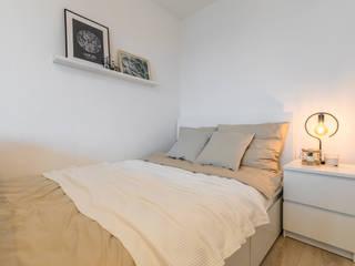 Möblierte Vermietung auf Zeit Wohnjuwel Home Staging SchlafzimmerBetten und Kopfteile