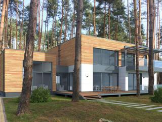Проект виллы в стиле минимализм от Архитектор Владимир Никишин Минимализм