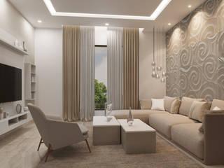 Family living Modern living room by De Panache Modern Stone