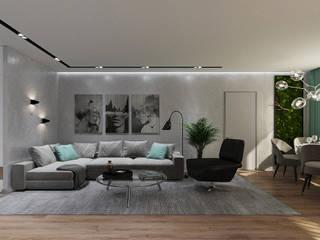 Двухкомнатная квартира Гостиная в стиле минимализм от Анастасия Бирюкова Минимализм