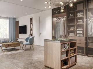 Walk in Wardrobe Modern dressing room by De Panache Modern Wood Wood effect