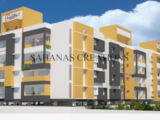 Architects for Apartments Modern houses by Sahana's Creations Architects and Interior Designers Modern