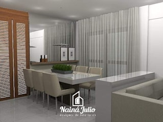 RESIDENCIAL NO ESTILO CONTEMPORÂNEO CASUAL por Nainá Julio - Designer de Interiores