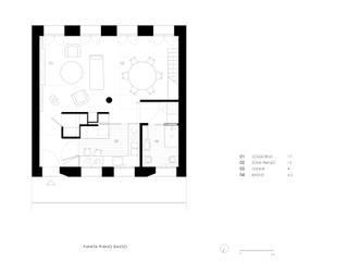 VOLUMI SOSPESI:  in stile industriale di Tommaso Giunchi Architect, Industrial