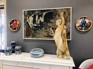 White Home , Modern living and Dinning set up Modern living room by Make My Nest Modern