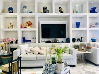 White Home , Modern living and Dinning set up Modern living room by Make My Nest Modern