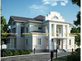 Biệt thự Nhà phong cách Bắc Âu bởi XÂY DỰNG KIẾN TRÚC VIP Bắc Âu