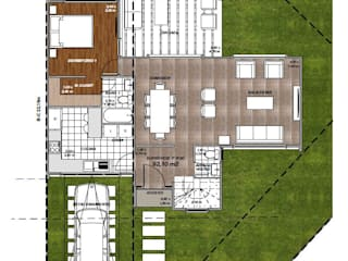 Modelo Mediterráneo 138 Casas de estilo mediterráneo de R&R Construccion Mediterráneo