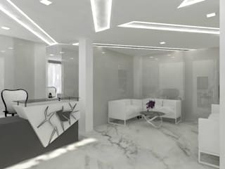 Dental Clinic by skyqube interiors Asian