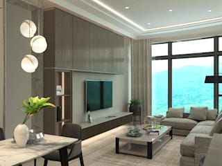 Modern Living Room by Nelson W Design Modern