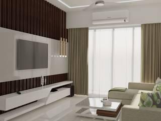 Residental Borivali Project Modern living room by CREATIVE DESIGNS Modern