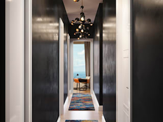 Modern Corridor, Hallway and Staircase by DelightFULL Modern