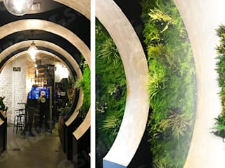 New Trendy Artificial Plants Panels For Vertical Landscape Paredes y suelos de estilo tropical de Sunwing Industries Ltd Tropical