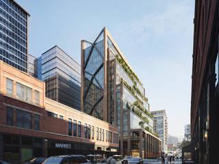 PICTURY + SOM | 800 West Fulton Market St. Oficinas y tiendas de estilo moderno de Pictury Moderno