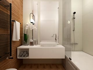 Ванная комната Ванная комната в скандинавском стиле от Декор Таун Скандинавский