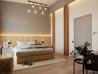 Дизайн спальни Спальня в скандинавском стиле от design studio ROS Скандинавский