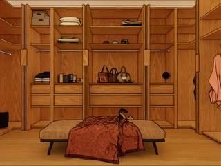 closet Dormitorios de estilo mediterráneo de proyectoszeza Mediterráneo