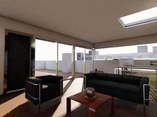 Terraza Tokio 405 Estudios y despachos modernos de SUASTE Arquitectos Moderno