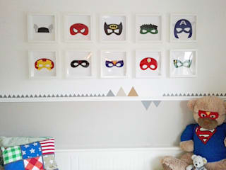Kinderzimmer... TSCHÜSS BABYZIMMER - IT´S TIME FOR SUPERHEROES!: modern  von DIE RAUMPIRATEN®,Modern