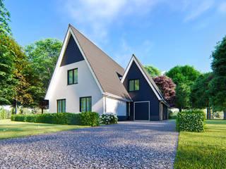 Villa ontwerp in modern landelijke stijl Landelijke huizen van Studio WeBuild Landelijk
