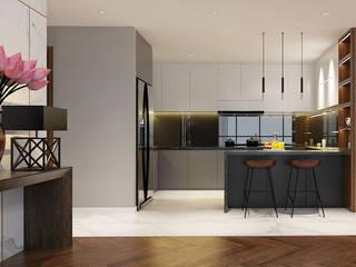 Modern Kitchen by CÔNG TY THIẾT KẾ NHÀ ĐẸP SANG TRỌNG CEEB Modern