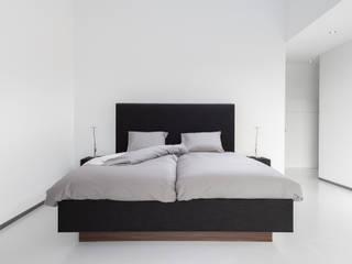Design bed Roma De Suite SlaapkamerBedden en hoofdeinden Textiel Zwart