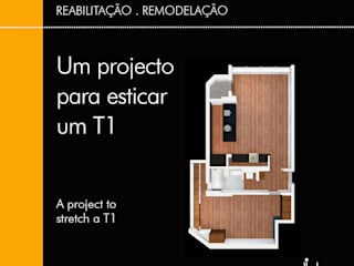 "How to ""stretch"" a 1 room apartment (T1) Modern living room by Linhas Simples Modern"