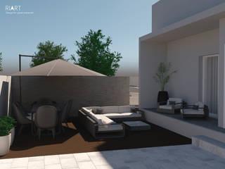 Moradia na Maia Varandas, marquises e terraços modernos por RIART | Design & Interiors Moderno