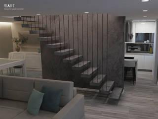 Moradia na Maia Salas de estar modernas por RIART | Design & Interiors Moderno