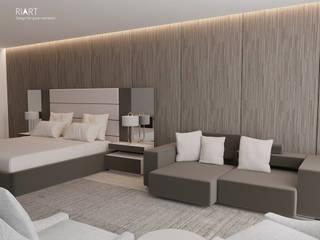 Quarto de Hotel Hotéis modernos por RIART | Design & Interiors Moderno
