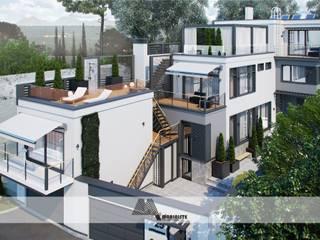 Реконструкция старого жилого дома от Архитектурное бюро 'Маринисты' Модерн